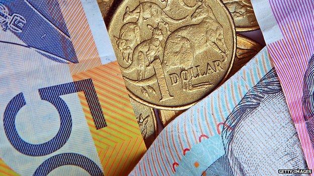 Australian currency, file photo