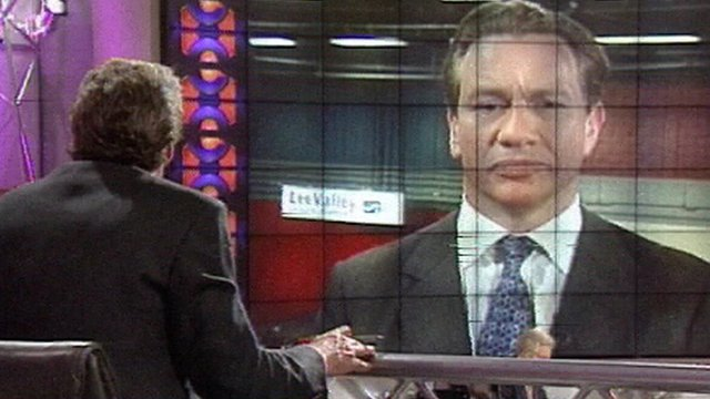 Jeremy Paxman interviews Michael Portillo after his defeat in the 1997 general election