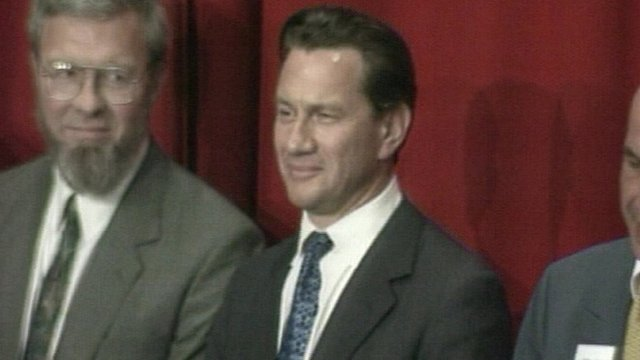 Michael Portillo reacts to losing his seat in Enfield Southgate
