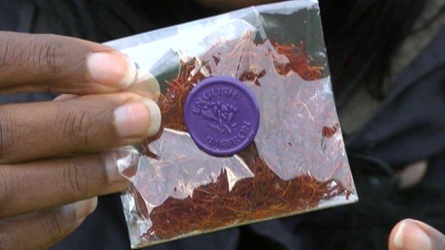 Saffron packet