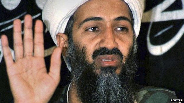 Osama bin-Laden addresses a news conference in Afghanistan in this May 26, 1998 file photo.