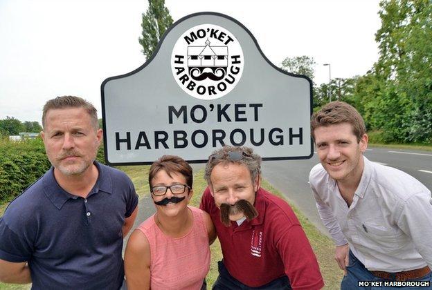 Jon Sim, Head of Communities at Movember, Sarah Blackler, local businessman Duncan Murray and Chris Carter, Prostate Cancer UK