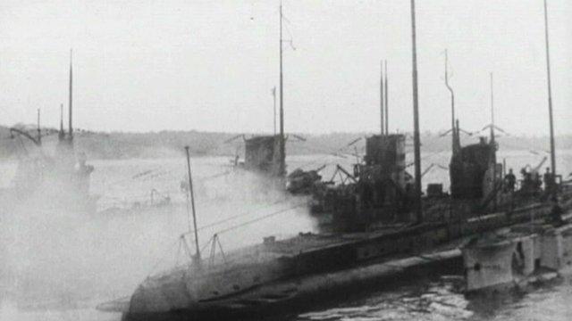 German U-boats in Harwich