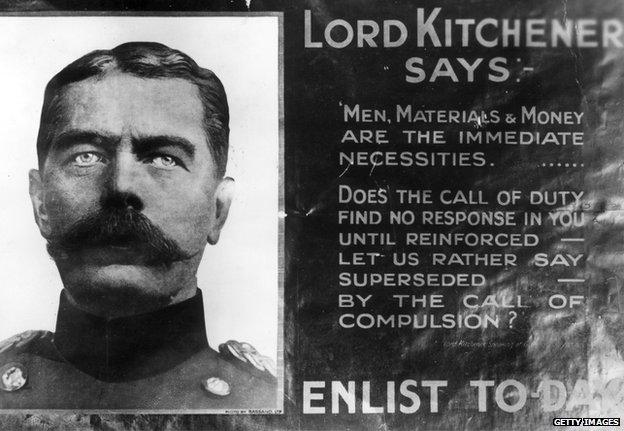 Poster threatening conscription in 1915