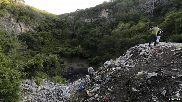 Rubbish dump where students are alleged to have been taken. 7 Nov 2014