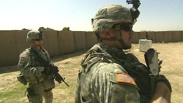 US troops on duty