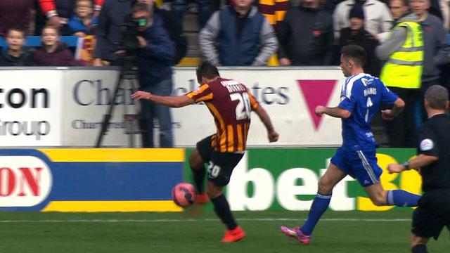 Filipe Morais completes Bradford comeback against Halifax Town