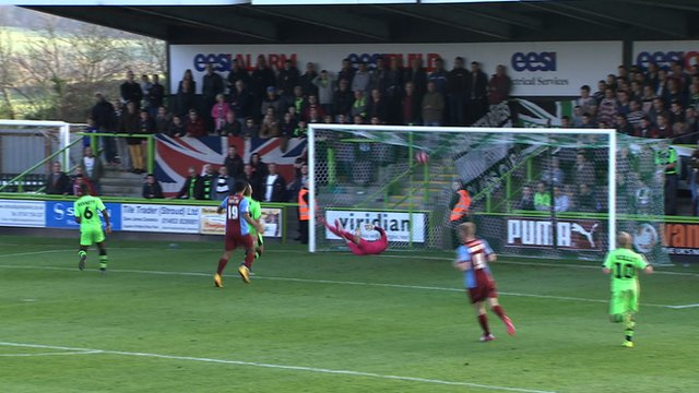 Scunthorpe take lead over Forest Green
