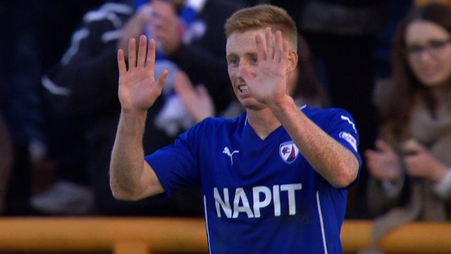 Eoin Doyle scores a last-minute sixth goal as Chesterfield hit six at Braintree in the FA Cup first round