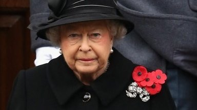 The Queen at the Cenotaph on Remembrance Sunday