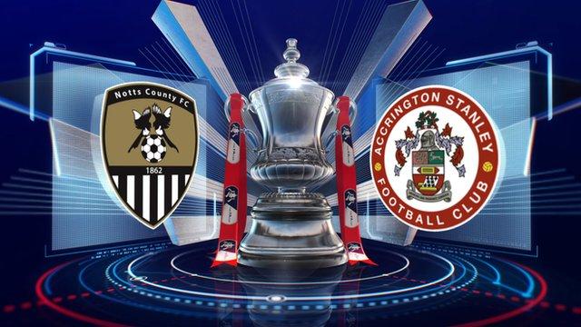 FA Cup: Notts County 0-0 Accrington highlights