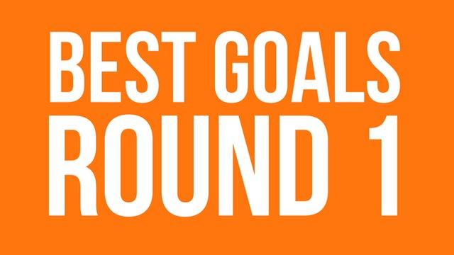 Best goals round one