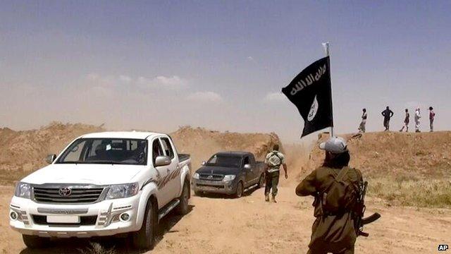 IS militants on Iraqi-Syria borders