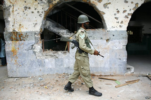 Soldier at the Red Mosque, 2007