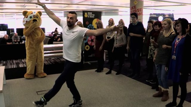 Robin Windsor teaching a dance lesson