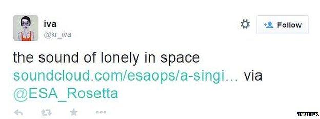 Tweet on Rosetta