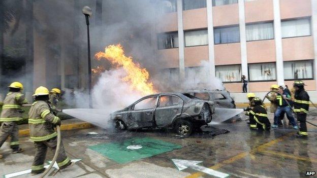 Attack against Guerrero state congress in Chilpancingo