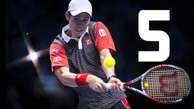 Kei Nishikori beat David Ferrer 4-6 6-4 6-1