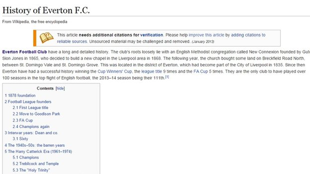 History of Everton FC