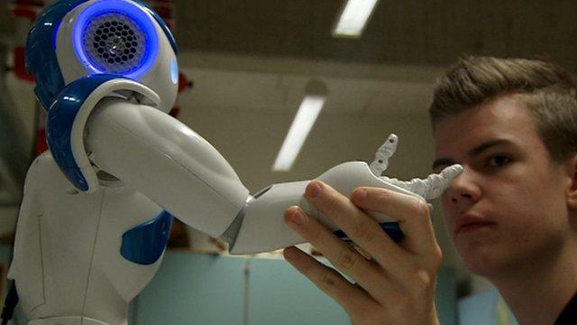 Lars Hagen and robot