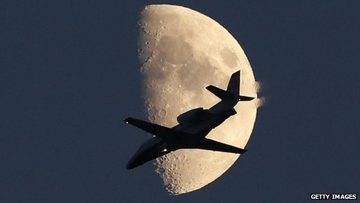 Cessna and the moon