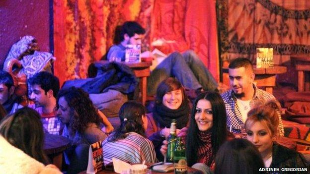 Night club in Yerevan, Armenia