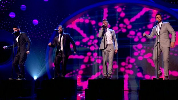 Boyzone performing on Children in Need