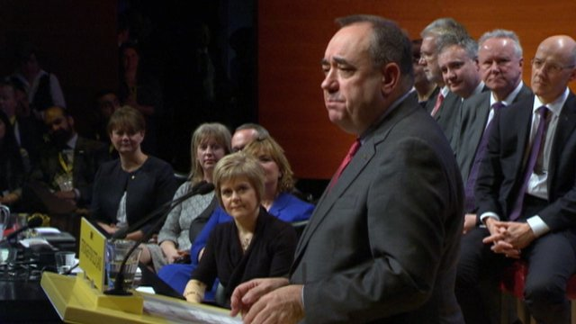 Alex Salmond addresses the SNP conference