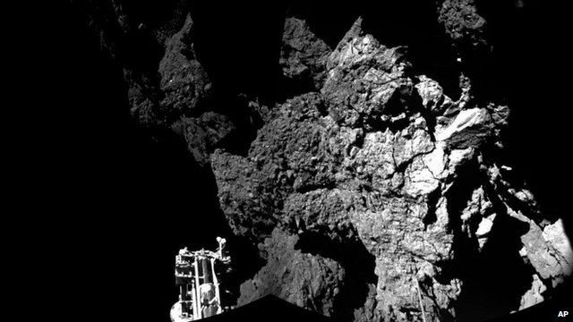 Philae on the comet surface