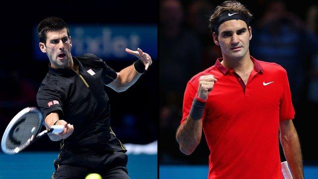 Novak Djokovic and Rodger Federer