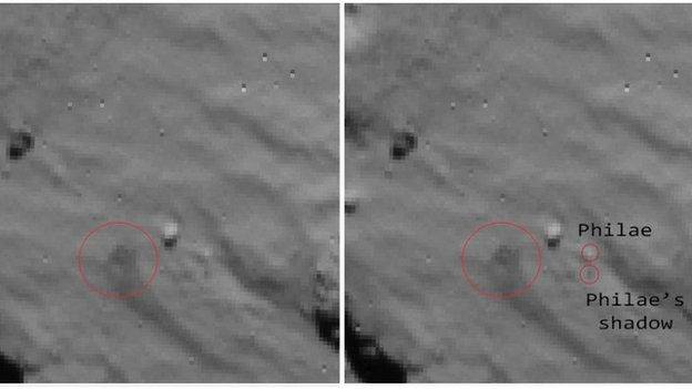 Comet lander: First pictures of Philae 'bounce' released