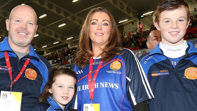 Anto Finnegan along with his wife Alison, daughter Ava and son Conall