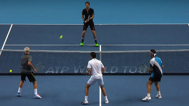 Andy Murray takes on John McEnroe, Tim Henman & Pat Cash