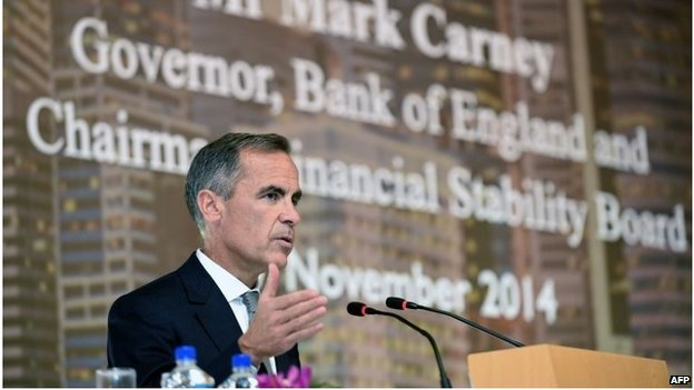 Mark Carney speaking in Singapore
