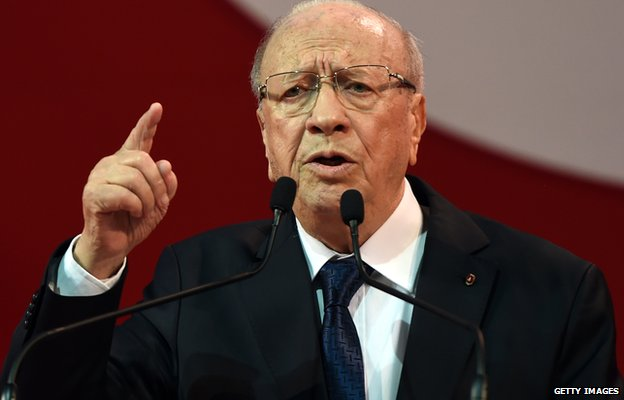 Beji Caid Essebsi, Tunisian leader of the main anti-Islamist party Nidaa Tounes and presidential candidate