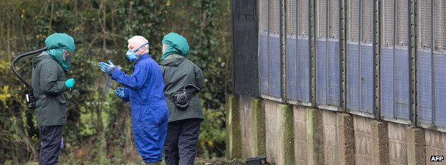 Specialists in protective clothing at duck breeding farm in Nafferton, East Yorkshire
