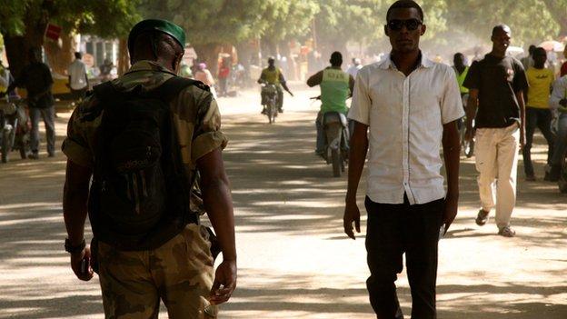 A street scene in Maroua, Cameroon (November 2014)