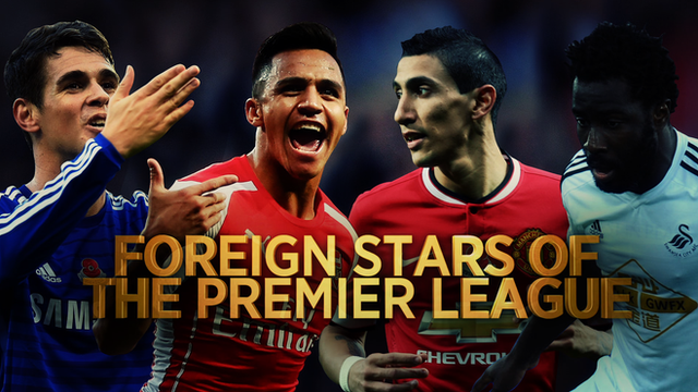 Oscar, Alexis Sanchez, Angel Di Maria and Wilfried Bony feature in BBC Sport's look at the foreign stars of the Premier League.