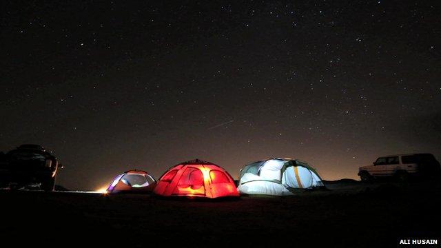 Oman desert by night