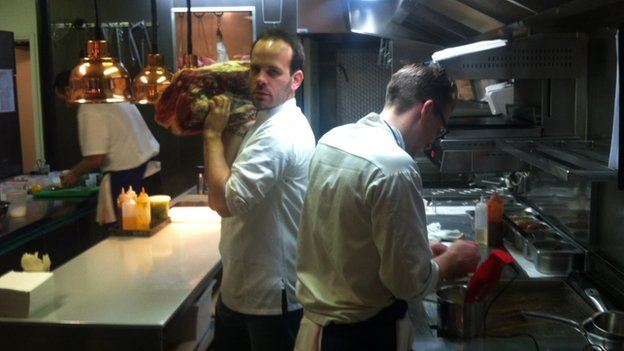 Chef Gregory Marchand, at his restaurant Frenchie