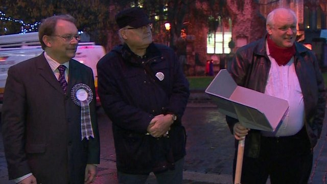 Norman Smith talks to several independent candidates in Rochester and Strood