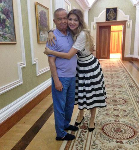 Islam Karimov Sr embracing Gulnara Karimova