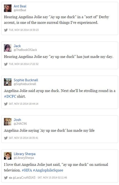 Tweets about Angelina Jolie's comment