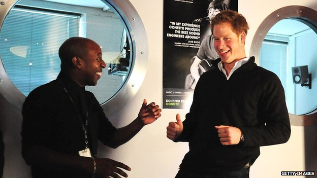 Prince Harry at the Confetti Institute