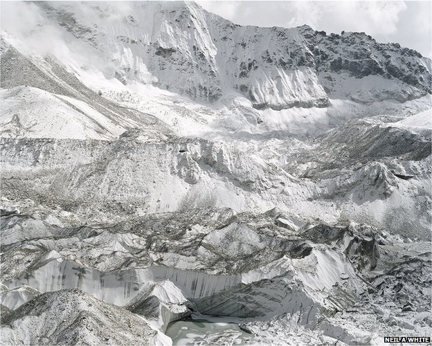 Imja Glacier, which is the source of water to Imja Tsho