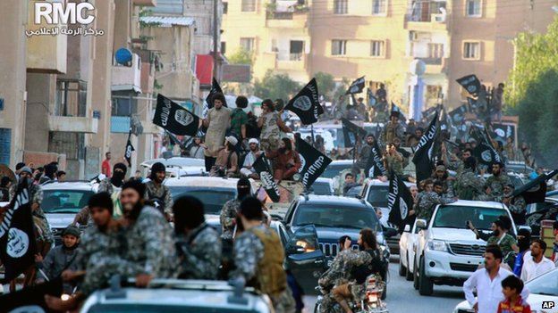 June file pic of IS fighters in Raqqa