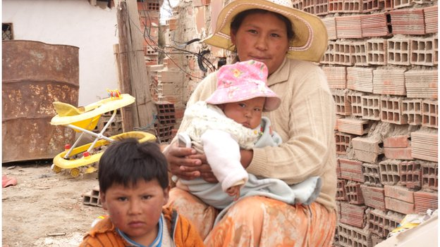 Francisca and children