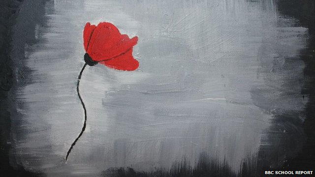 Painting of a poppy Prasaan Kanagarajah