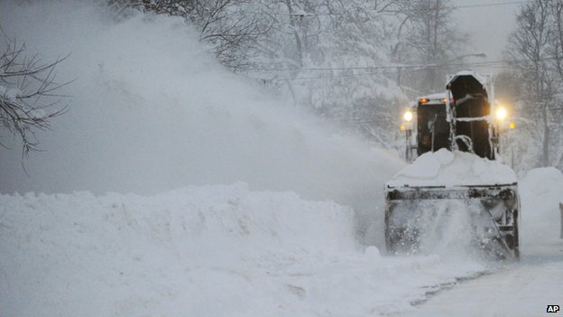 A New York State snow blower appeared in Lancaster, New York, on 19 November 2014