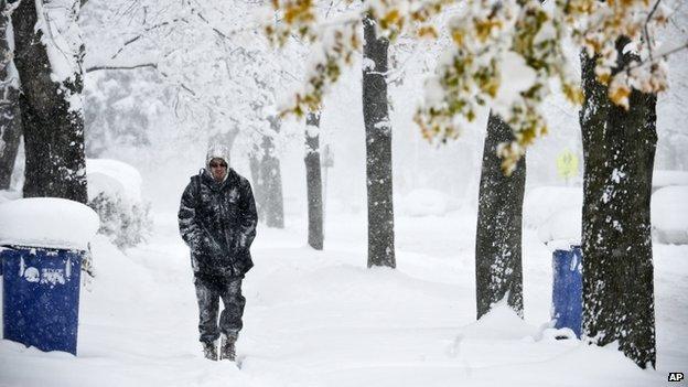 A man appeared in Grand Rapids, Michigan, on 18 November 2014